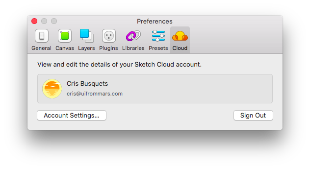 Registro Sketch Cloud