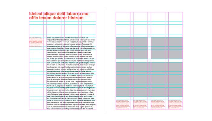 Retícula en diseño impreso
