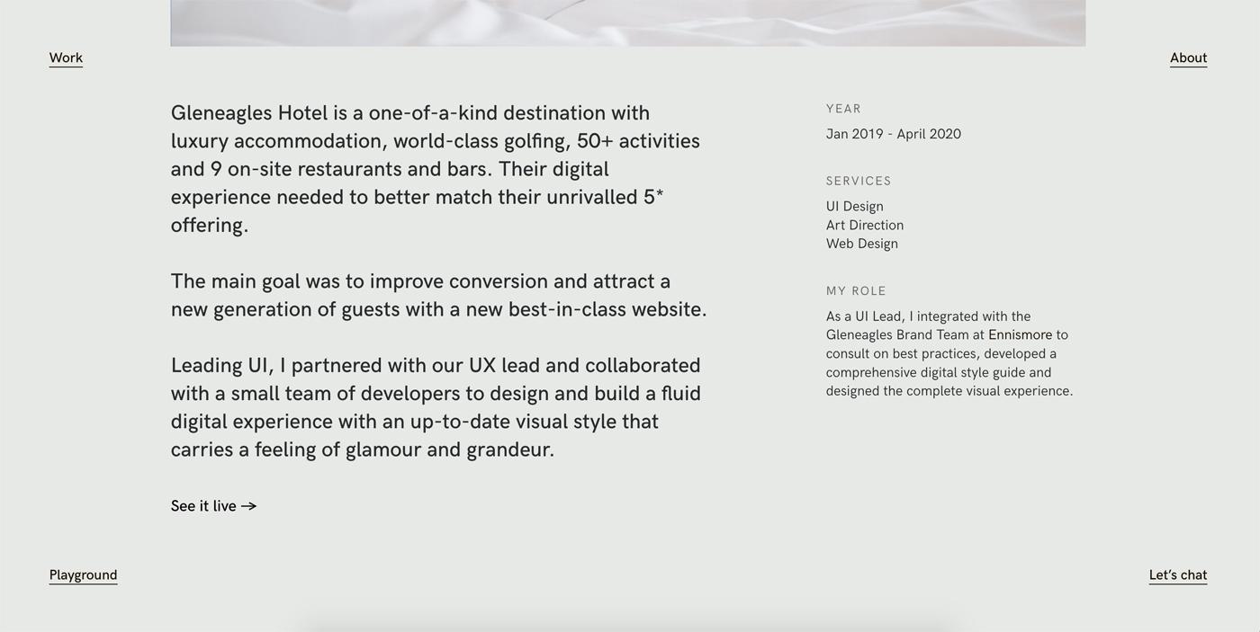 Como hacer portfolio diseño - Rol en proyecto