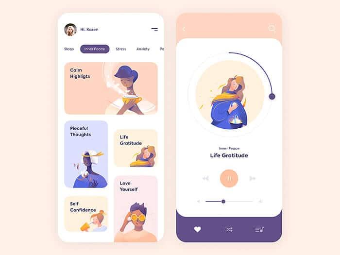 Split complementario: paletas de diseño UI