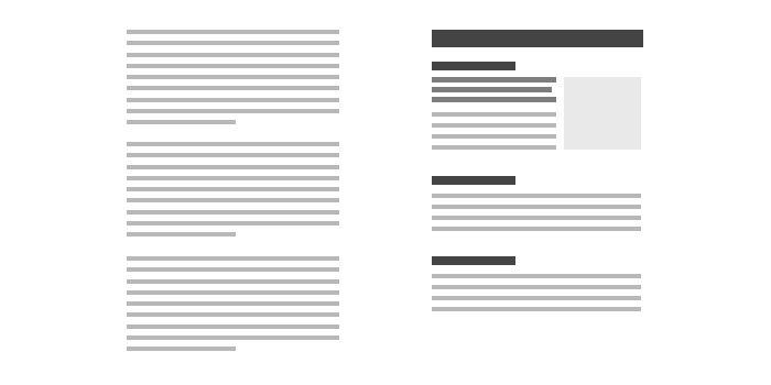 Jerarquía en el contenido - Diseño afecta SEO