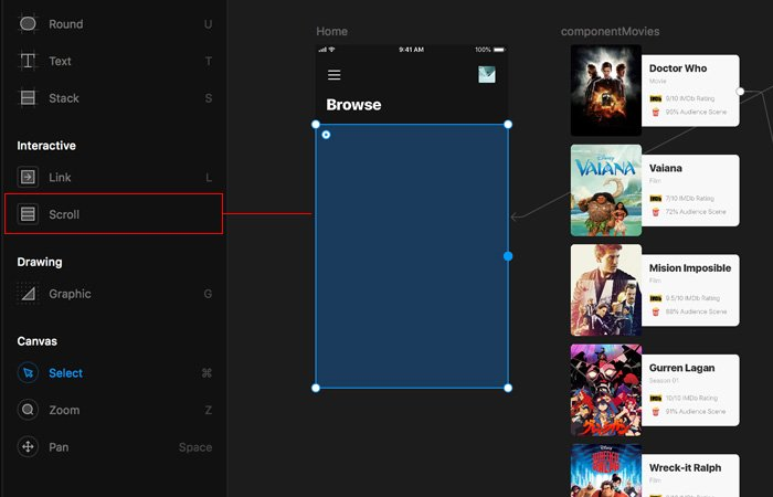 Cómo hacer scroll con Framer X - uiFromMars