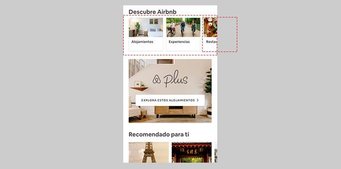 Principio de cierre (Gestalt) - Airbnb