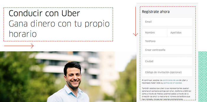 Principio de continuidad (Gestalt) - Uber