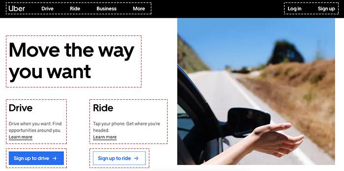 Principio de proximidad (Gestalt) - Uber