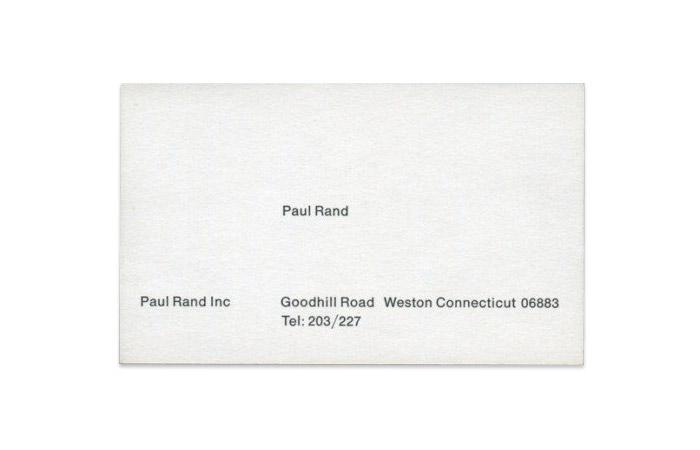 Tarjeta Paul Rand