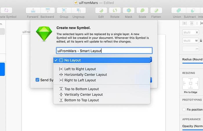Novedades Sketch 58 - Smart Layout