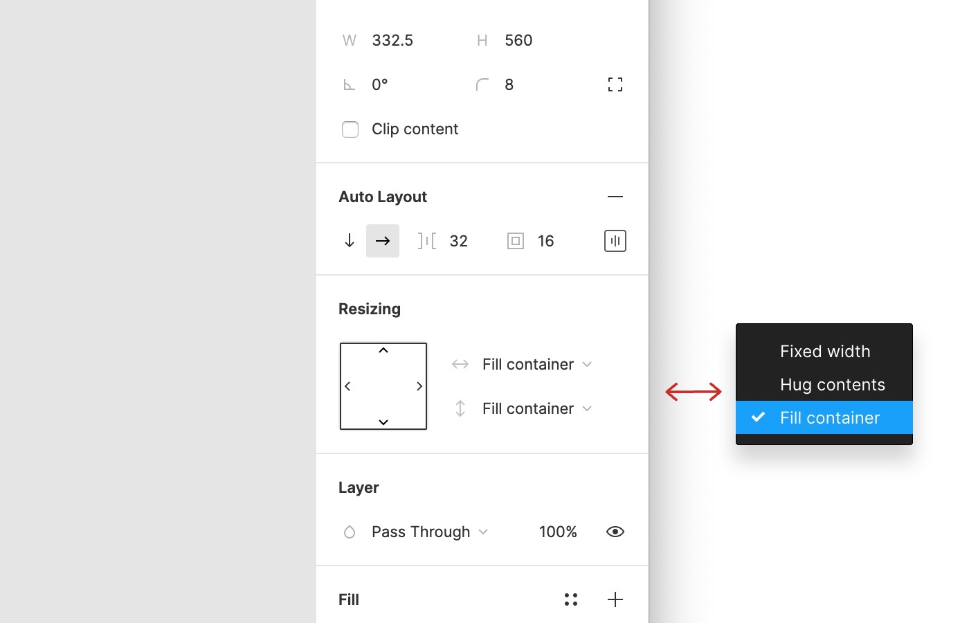 Auto Layout Figma - Redimensionar (resizing)