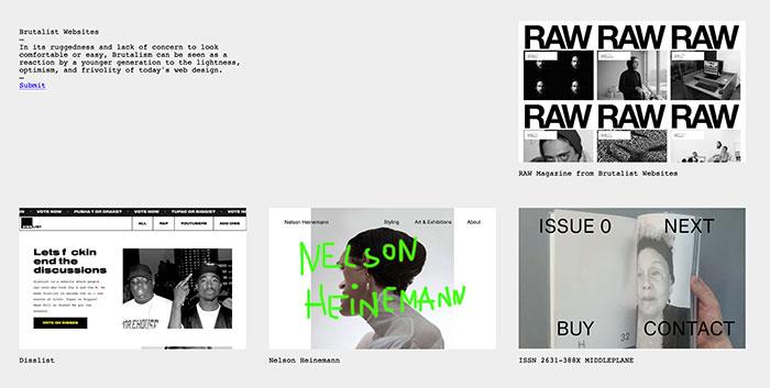 Brutalist Websites - Inspiración diseño brutalista