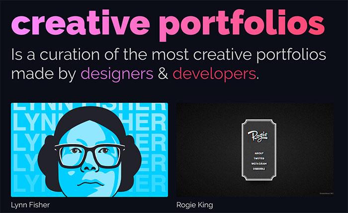 Creative Portfolios - Portfolios creativos (inspiración)