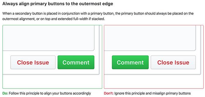 Aurora Pleguezuelo - Botones del Design System GitHub (Prime)