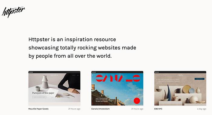 "httpster - Inspiración UI ""hipster"""