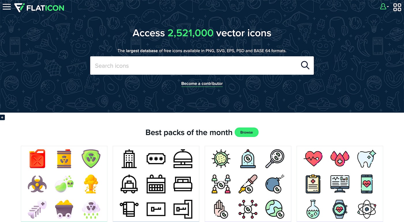 Flaticon - Herramientas diseño UI