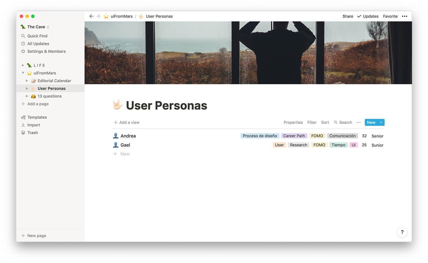 User Personas de uiFromMars