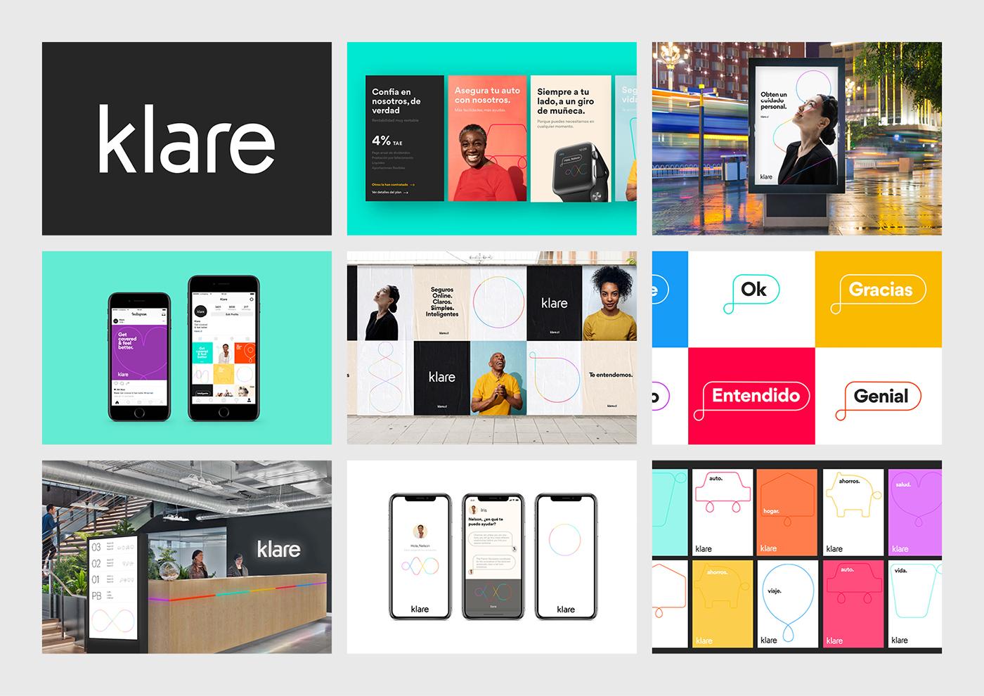 Proyecto de Identidad de marca para la insurtech chilena Klare — Realizado en TCK®