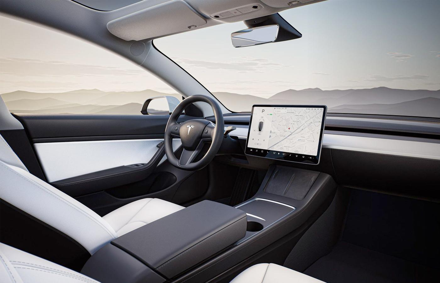 La nueva UI de Tesla